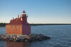 Jesiotra Podpalana Kanałowa Północna Pierhead Latarnia morska obraz stock