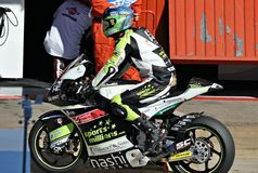 Jesko Raffin in the circuit of Catalonia Stock Photos