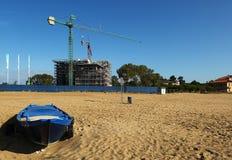 Jesolo. (Ve),Veneto,Italy,Adriatic Sea,a construction site on the beach Stock Photography