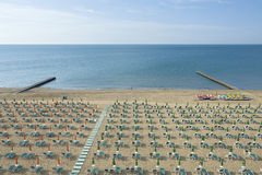 Jesolo beach Royalty Free Stock Photography