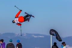 Jesper Ahlén, svensk skidåkare Royaltyfria Foton