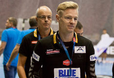 Jesper Jensen- head coach of Aalborg handball team Royalty Free Stock Images