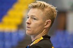 Jesper Jensen- head coach of Aalborg handball team Royalty Free Stock Image