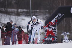 Jesper Modin - cross country skier Royalty Free Stock Images