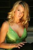 Blonde sexy fashion model Stock Photo