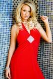 Jess im roten Kleid lizenzfreies stockfoto