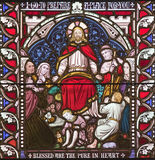 Jesús que habla a las multiplicidades Imagenes de archivo