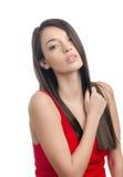 Jess in Rode kleding stock foto's