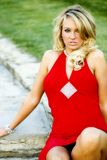 Jess in vestito rosso Immagini Stock