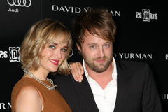 Jess Weixler, Joshua Leonard. LOS ANGELES - OCT 18: Jess Weixler, Joshua Leonard arriving at the PS Arts 20th Anniversary Event at the Sunset Tower Hotel on stock photography