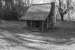 Jesse Brown Cabin, Blue Ridge Parkway, North Carolina, USA. Blue Ridge Parkway, NC – December 19th: Jesse Brown Cabin located at mile 272.4, Blue Ridge Stock Photos