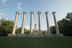 Jesse Hall y columnas Fotografía de archivo
