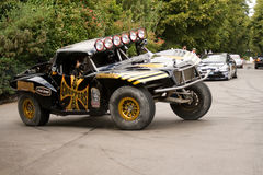 Jesse james driving trophy truck. At goodwood festival of speed royalty free stock photo