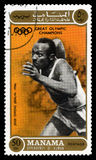 Jesse Owens Olympic Champion Postage-Zegel Royalty-vrije Stock Foto