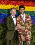 Jesse Tyler Ferguson at 2019 Tony Awards. Actor Jesse Tyler Ferguson and husband Justin Mikita, a lawyer, arrive on the red carpet at the 73rd annual Tony Awards royalty free stock photo