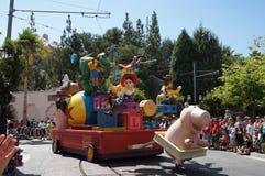 Jesse y desfile arbolado en Disneylandya Fotografía de archivo libre de regalías