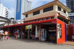 Jesselton-Punkt-Ufergegend bei Kota Kinabalu, Sabah Stockbild