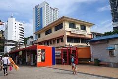Jesselton-Punkt-Ufergegend bei Kota Kinabalu, Sabah Stockfoto