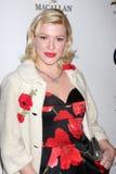 """Jessica """"azúcar"""" Kiper llega celebración de días festivos joven anual de Hollywood de la sociedad de Junior Hollywood Radio y de l Foto de archivo libre de regalías"""