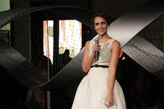 Jessica Alba. At the Let It Sparkle Rodeo Drive Lighting Ceremony, Rodeo Drive, Beverly Hills, CA 11-21-11 Royalty Free Stock Photo