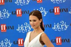 Jessica Alba al Giffoni Film Festival 2012 royaltyfri fotografi