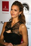 Jessica Alba. At Flaunt Magazine's 7-Year Anniversary Party. Private Residence, Los Angeles, CA. 12-02-05 Royalty Free Stock Photo