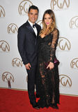 Cash Warren,Jessica Alba. Jessica Alba & husband Cash Warren at the 2013 Producers Guild Awards at the Beverly Hilton Hotel. January 26, 2013 Los Angeles, CA stock photography