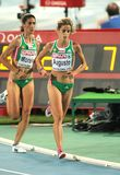 Jessica Augusto of Portugal. Competes on the Women 10000m final during the 20th European Athletics Championships at the Olympic Stadium on July 28, 2010 in Royalty Free Stock Images