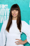 Jessica Biel arriving at the 2012 MTV Movie Awards Royalty Free Stock Image