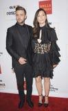 Jessica Biel e Justin Timberlake fotografia de stock