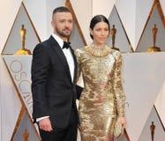 Jessica Biel und Justin Timberlake Stockfotografie