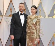 Jessica Biel und Justin Timberlake Lizenzfreie Stockfotografie