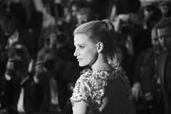Jessica Chastain attends the `In The Fade Aus Dem Nichts`. Premiere during the 70th annual Cannes Film Festival at Palais des Festivals on May 26, 2017 in royalty free stock images