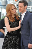 Jessica Chastain & James McAvoy Royalty Free Stock Photos