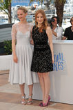 Jessica Chastain & Jess Weixler Stock Images