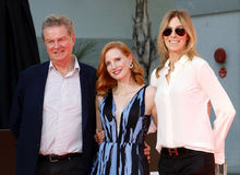 Jessica Chastain, John Madden und Kathryn Bigelow Stockfotos