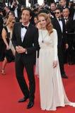 Jessica Chastain u. Adrien Brody Stockbild