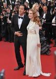 Jessica Chastain u. Adrien Brody Lizenzfreie Stockfotos