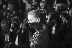 Jessica Chastain woont ` in Fade Aus Dem Nichts ` bij royalty-vrije stock foto's