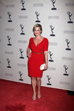 Jessica Collins arrives at the ATAS Daytime Emmy Awards Nominees Reception Royalty Free Stock Photos