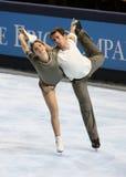 Jessica DUBE/Bryce DAVISON (KAN) het vrije schaatsen Royalty-vrije Stock Afbeeldingen