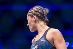 Jessica Eye before her fight against Valentina Shevchenko royalty free stock photography