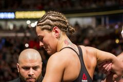 Jessica Eye after knock out royalty free stock images