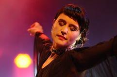 Jessica Lois, Jessie Ware, a British singer-songwriter, performs at Heineken Primavera Sound 2013 Festival Royalty Free Stock Photos