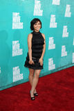 Jessica Lu arriving at the 2012 MTV Movie Awards Stock Image