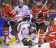 IIHF kobiet Lodowego hokeja światu mistrzostwo zdjęcia stock