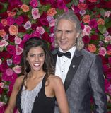 Jessica Rose and Cory Brunish at 2018 Tony Awards. Actors Jessica Rose and husband Cory Brunish arrive on the red carpet for the 72nd Annual Tony Awards held at Stock Image