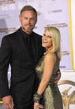 Jessica Simpson & Eric Johnson royaltyfria bilder