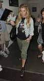 Jessica Simpson is seen at LAX Stock Photography