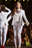 Jessica of SNSD at the Human Culture EquilibriumConcert Korea Festival in Viet Nam. Ho Chi Minh City, VietNam - March 22: Jessica (SNSD, Girls' Generation band) stock photography